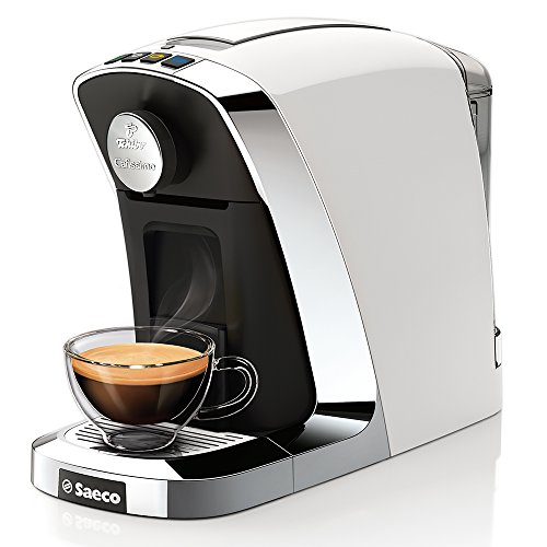 Saeco Cafissimo Tuttocaffè Kapselmaschine für Kaffee, Espresso und Caffè Crema, Bianco
