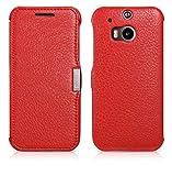 Luxus Tasche für HTC one M8 / M8S / Case Außenseite aus