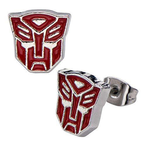 Transformers Autobots Stainless Steel Stud Earrings Costume Accessory