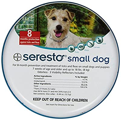 Bayer Seresto Flea and Tick Collar for Pet, Small Dog