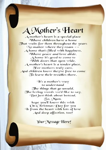 For You, Mum At Christmas Personalised Poem Gift