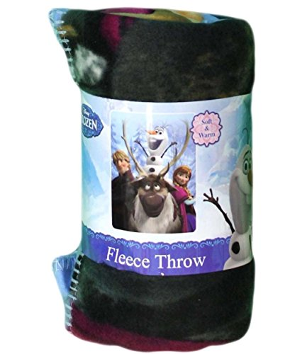 "The Northwest Company Disney's Frozen ""Out in The Cold"" Fleece Throw, 46-Inch by 60-Inch - 1"