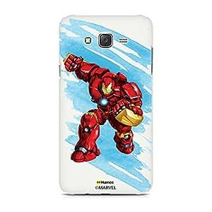 Hamee Original Marvel Character Licensed Designer Cover Slim Fit Plastic Hard Back Case for Samsung Galaxy J5 - 6 / J5 2016 Edition (Hulk Buster / Wash)