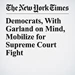 Democrats, With Garland on Mind, Mobilize for Supreme Court Fight   Carl Hulse