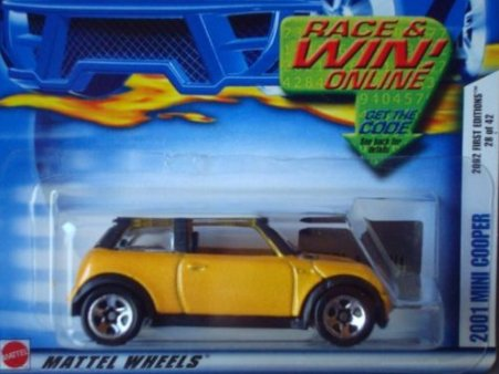 2002 First Editions -#28 2001 Mini Cooper 5-spoke Wheels #2002-40 Collectible Collector Car Mattel Hot Wheels 1:64 Scale Collectible Die Cast Car - 1