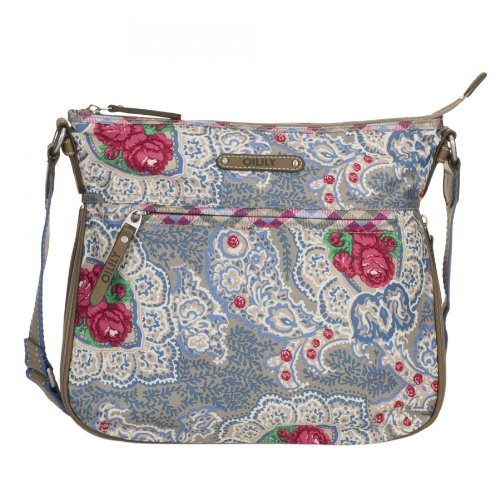 Oilily Apron Umhängetasche Schultertasche Flat Shoulder Bag M 8000 khaki
