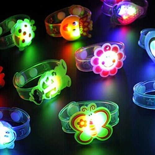 Liroyal Pack Of 12 Cartoon Glow Watchbands