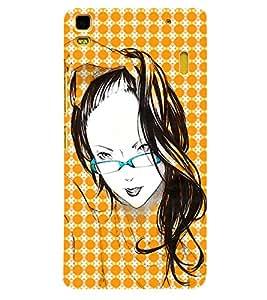 Fuson 3D Printed Girly Designer back case cover for Lenovo K3 Note - D4575