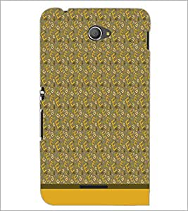 PrintDhaba Typography D-1785 Back Case Cover for SONY XPERIA E4 (Multi-Coloured)