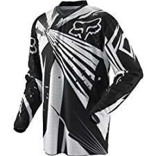 Fox Racing HC Vented Undertow Youth Boys Motocross/Off-Road/Dirt Bike Motorcycle Jersey - Black / X-Large