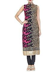 Simaaya Fashions Women's Net Regular Fit Salwar Suit (SM106087, Blue, L)