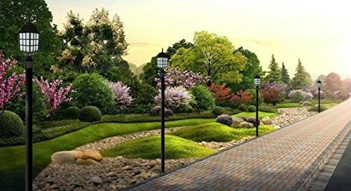 """Espero 3""""-Diax96""""-H Composite Outdoor Direct Burial Lamp Post Lighting Post Black Polished Finish"""
