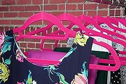 AADYA Durable Velvet Clothes Hangers Pink(Set Of 5 PCS)