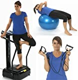 Gym Master Crazy Fit Vibration Machine 3000W Peak Power 160 Speeds, MP3, Semi Commercial in Black