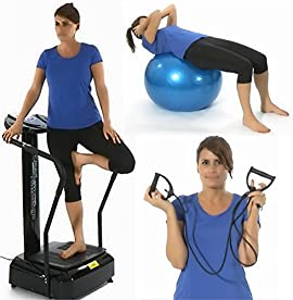 Gym Master Crazy Fit Vibration Machine 3900W Peak Power 160 Speed,MP3, Semi Commercial in Black