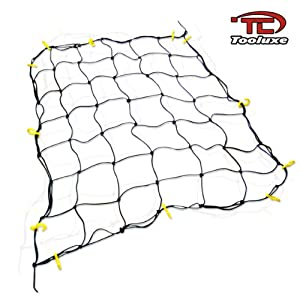 """Extra-Large 72"""" x 96"""" Cargo Net with 28 Hooks - Stretches to 10' x 14'!"""