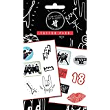 1art1® Set: 5 Seconds Of Summer, Mix, 12 Tattoos Tattoo Pack (7x4 inches) And 1 x Surprise Sticker
