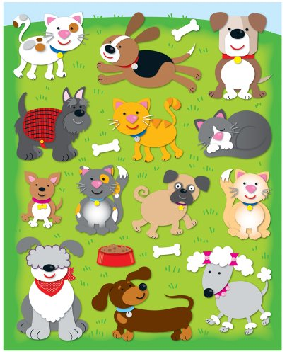 Carson Dellosa Dogs and Cats Shape Stickers (168031)