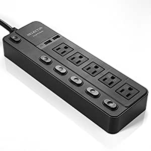 ISELECTOR 4320J Surge Protector 5-Outlet Individual Switches