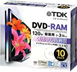 TDK 録画用DVD-RAM デジタル放送録画対応(CPRM) インクジェットプリンタ対応 2-3倍速 5mmスリムケース 10枚パック DRAM120DPB10U