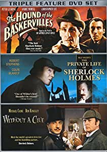 The Hound of the Bakservilles / The Private Life of Sherlock Holmes / Without a Clue (Triple Feature)