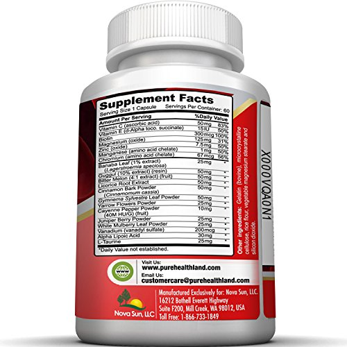 Natural Blood Sugar Control Support Supplements Pills With Vitamins And Herbs Solution Formula. Support To Low Blood Sugar Naturally To Maintain A Healthy Stable Blood Sugar Level.