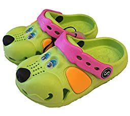 Fresko Unisex Child Clog (Lime Green, 8)