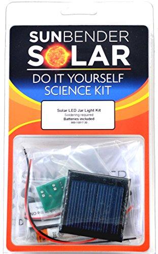 Sunbender Do-It-Yourself Solar Led Jar Light Kit - Red Led'S - Soldering Required