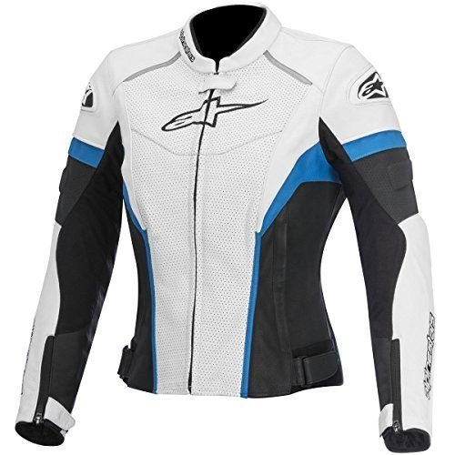 Alpinestars GP Plus R Perforated Women's Street Motorcycle Jackets - Black/White/Blue / 38