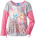 Disney Little Girls'Frozen Listen To Your Heart Tee