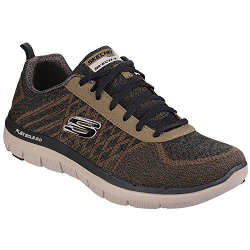 Skechers Mens Flex Advantage 2.0 Golden Point Sports Trainers/Sneakers (10 US) (Olive)