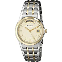 Bulova 98C60 Men's Two-Tone Bracelet Watch