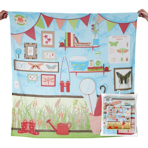 Weegoamigo - Baby Muslin Swaddle Blanket Digital Print - Bugology - 1