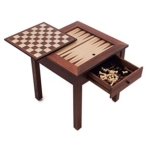 Wood 3 in 1 chess backgammon table new ebay for 10 games in 1 table