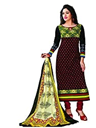 Komal arts EthnicwearWomen's Dress Material(KOMALSPL6020_Black_Free Size)