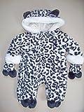 Rockabye Baby Winter snow leopard snowsuit pramsuit 0-3 months