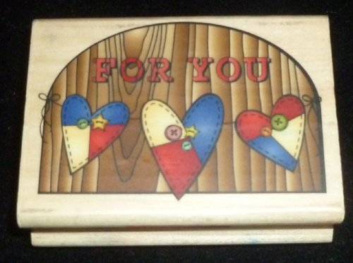 For You Hearts Rubber Stamp