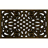 Apache Mills 60-951-1418 CleanScrape Wrought Iron Door Mat, 18-Inch by 30-Inch, Coffee