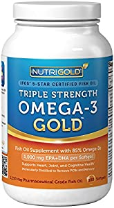 Nutrigold Triple Strength Omega-3 Gold (1,060 mg Omega-3s per softgel), 1250 mg, 180 softgels