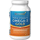 Nutrigold Triple Strength Omega-3 Gold (1,060 mg Omega-3s per softgel), 1250 mg, 180 softgels ~ Nutrigold