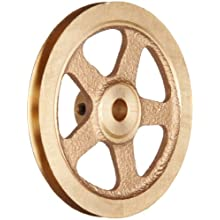 "Boston Gear G1219 Grooved Pulley, Fits Round Belts 0.1875"" or Smaller, 0.250"" Face, Brass"