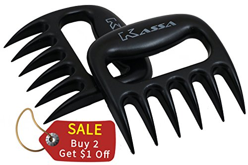 Find Bargain Kassa Meat Claws Set of 2- Pork Puller for Flawless Pulled Pork- Meat Shredder Pork, Be...