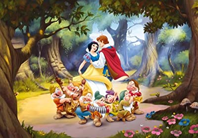 Princess And The Seven Dwarfs Disney - Childrens Photo Wallpaper by Superflowdesign