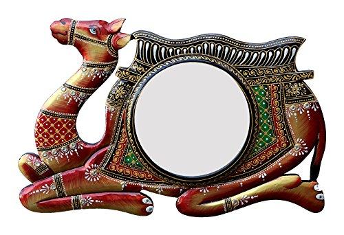 Divraya Wood Camel Wall Mirror (45.72 Cm X 4 Cm X 30.48 Cm, DA139)