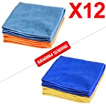 12X Microfiber Lint Cloths Car Valeti...