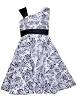 Hot Sale Rare Editions Girls 7-16 Circle Soutach Dress, Black/White, 7
