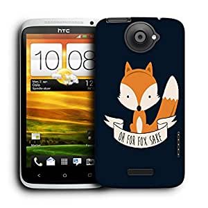 Snoogg Oh For Fox Sake Designer Protective Back Case Cover For HTC ONE X