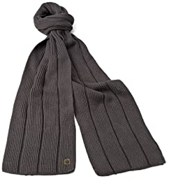 Goorin Bros. Men\'s Aegean Sea Cold Weather Scarf, Charcoal, One Size