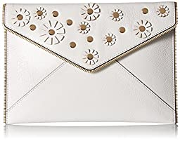 Rebecca Minkoff Leo Floral Clutch, White, One Size