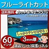 ブルーライトカット液晶テレビ保護パネル60型(60インチ)(60MBL3)【静電気防止スプレー付】